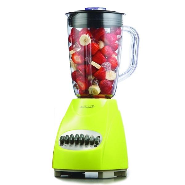 Brentwood JB-220G Lime Green 1.5L 12-Speed Blender Plastic Jar