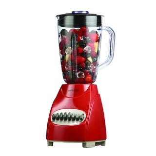 Brentwood JB-220R Red 1.5L 12-Speed Blender Plastic Jar