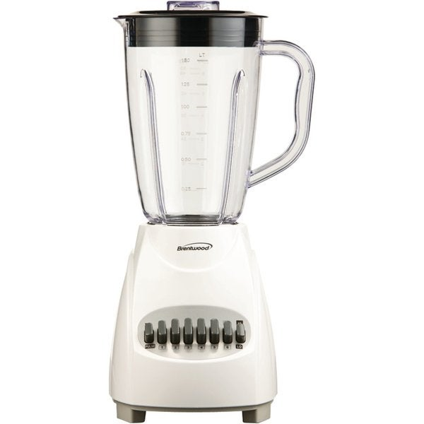 Brentwood JB-220W White 1.5L 12-Speed Blender Plastic Jar