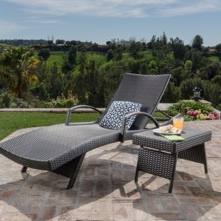 Christopher Knight Home Toscana Outdoor 2-piece Wicker Armed Chaise Lounge Set