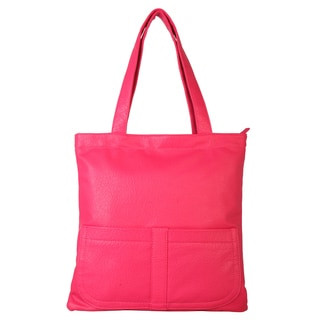 Diophy Faux Leather Simple Tote Handbag