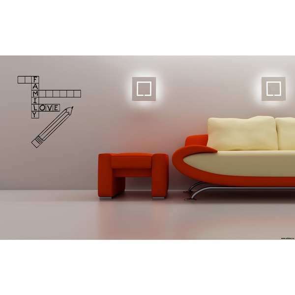 Crossword family Wall Art Sticker Decal