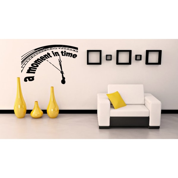 A Moment in Time Clock seconds Wall Art Sticker Decal
