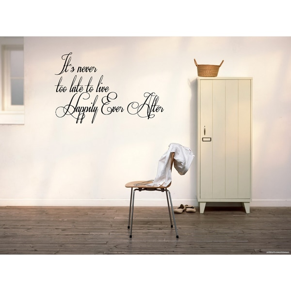 The words Happily Ever After Wall Art Sticker Decal