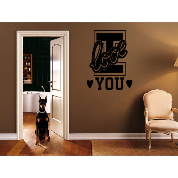 I love you Beautiful hearts Wall Art Sticker Decal