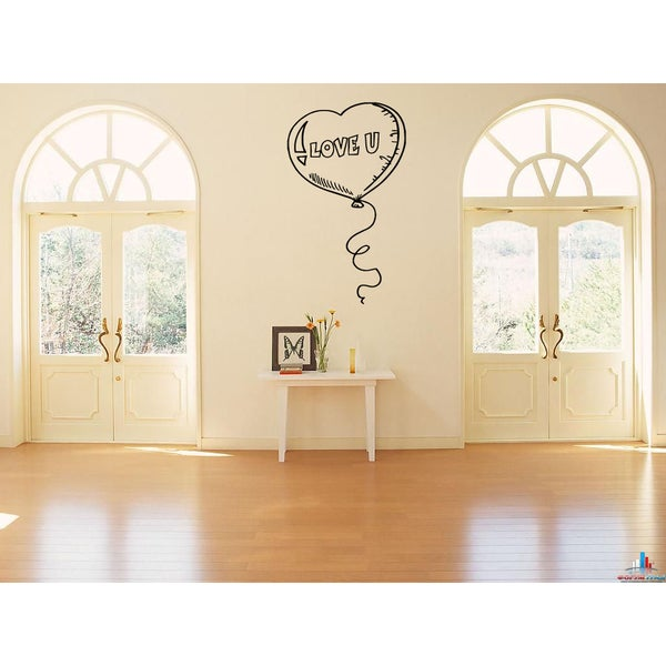 I love you Balloon Wall Art Sticker Decal