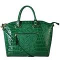 Diophy Elegant Crocodile Faux Leather Structured Satchel Handbag