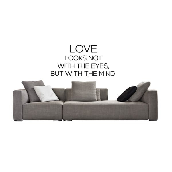 Love Looks with the Mind quote Wall Art Sticker Decal
