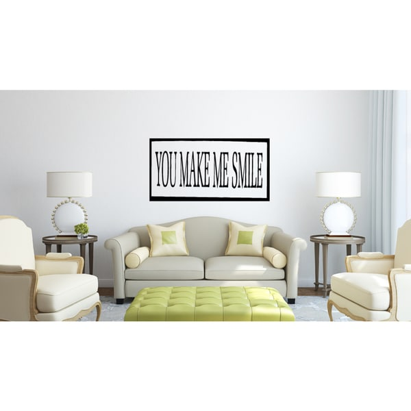 You Make Me Smile quote Wall Art Sticker Decal