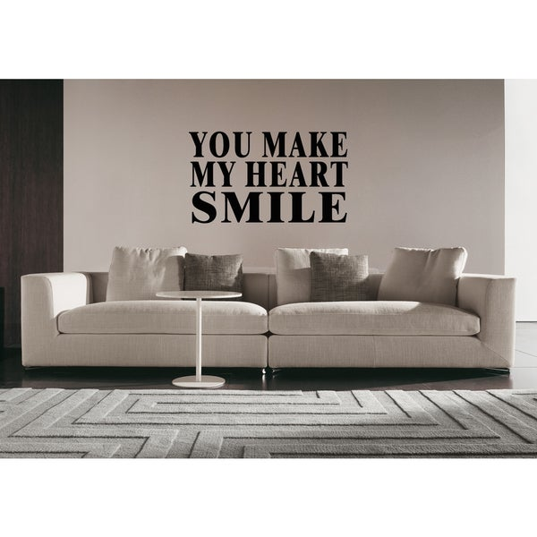 You Make Me Smile Inscription Wall Art Sticker Decal
