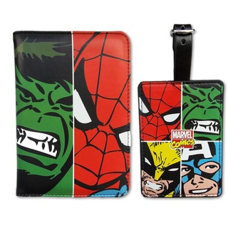 Marvel Face Off Passport Holder and Luggage Tag Set