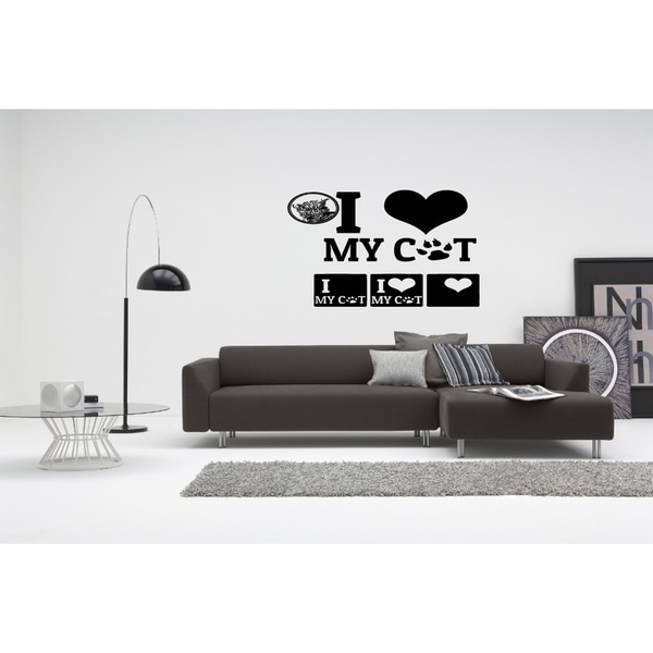 I love my cat Picture Wall Art Sticker Decal