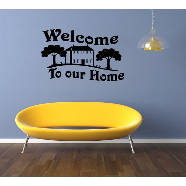 Welcome To Our Home House in the village Wall Art Sticker Decal