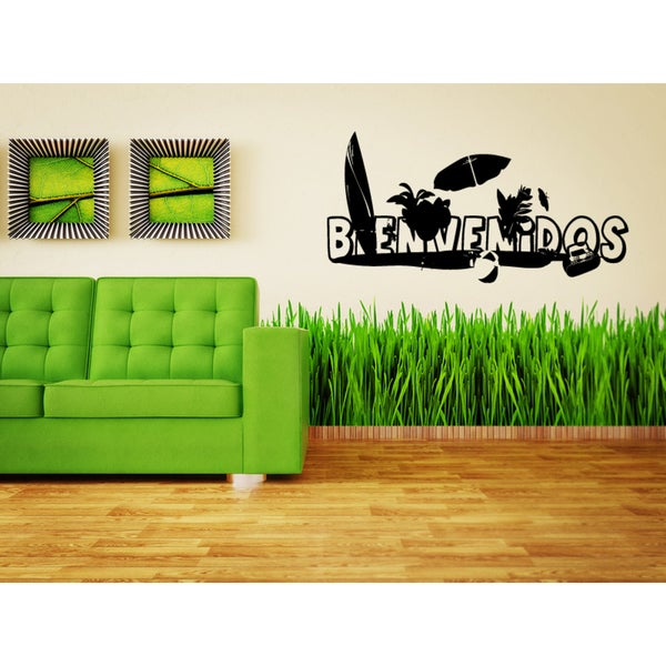 Bienvenidos Beach Activities Wall Art Sticker Decal