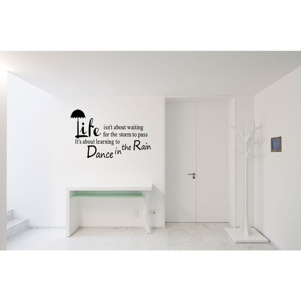 Learning to Dance in the Rain Wall Art Sticker Decal