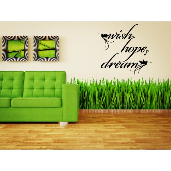 Wish Hope Dream Birds Wall Art Sticker Decal 17771040