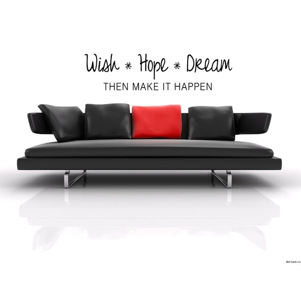 Wish Hope Dream Happen Wall Art Sticker Decal 17771041