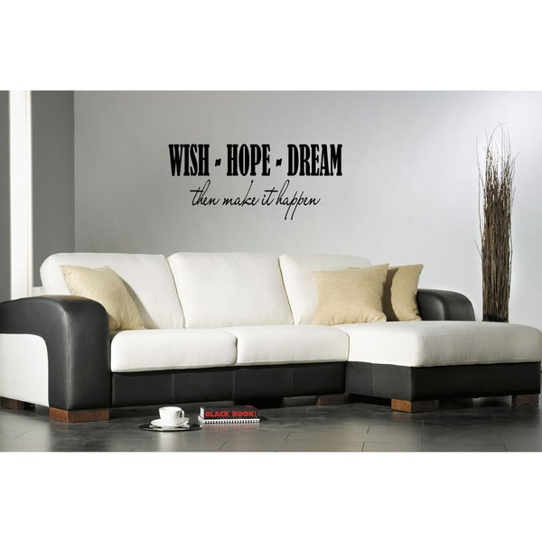 Wish Hope Dream quote Wall Art Sticker Decal 17771043