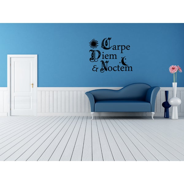 Carpe Diem Seize The Day Wall Art Sticker Decal
