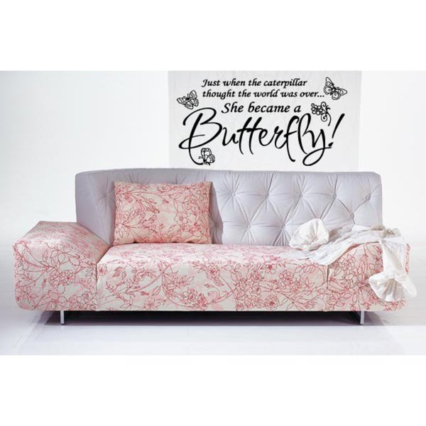 Making butterflies Caterpillar Became a Butterfly Wall Art Sticker Decal