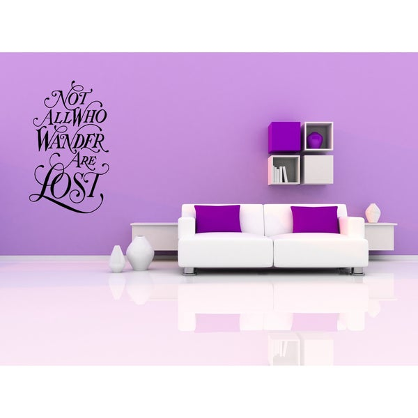 Not All Who Wander Are Lost quote Wall Art Sticker Decal