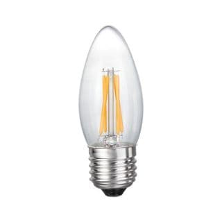 Goodlite Filament Torpedo Led Dimmable 5 Watt Candelabra - 60 Watt Medium E26 Base Warm White 650 Lumens UL Listed pack of 10