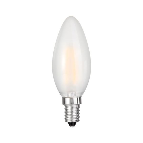 Goodlite Frosted Filament Torpedo Led Dimmable, 5 Watt Candelabra - 60 Watt E12 Base Warm White 650 Lumens UL Listed 10 Pack