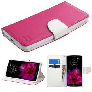 Insten Leather Case Cover with Stand/ Wallet Flap Pouch for LG G Flex 2