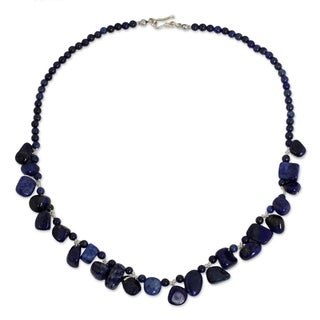 Handcrafted Silver 'Bold in Blue' Lapis Lazuli Necklace (Thailand)