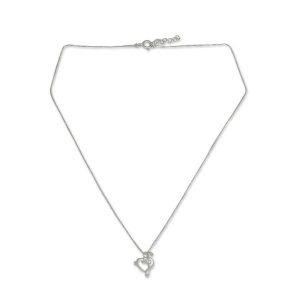 Handmade Sterling Silver 'Music of Love' Necklace (Thailand) 17772209