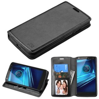 Insten Leather Case Cover with Stand/ Wallet Flap Pouch/ Photo Display for Motorola Droid Turbo 2