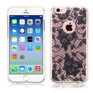 Insten Black Lace TPU Rubber Candy Skin Case Cover for Apple iPhone 6/ 6s