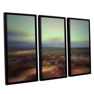 ArtWall Mark Ross's 'Washed Away' 3-piece Floater Framed Canvas Set