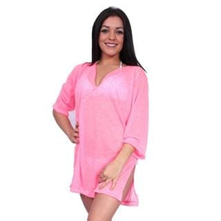 Women's Beach Dress Cover Up Tunic Swimwear Bikini V-Neck Slit Side