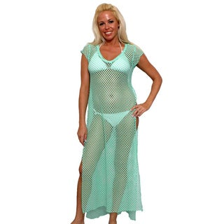 Women's Beach Dress Cover Up Open Side Full Length Swimwear Bikini Sexy