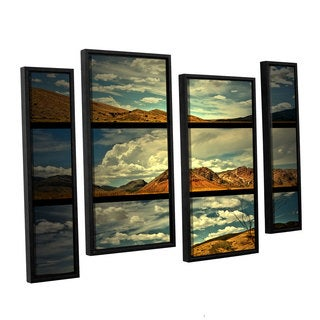 ArtWall Mark Ross's 'Saving Skys' 4-piece Floater Framed Canvas Staggered Set