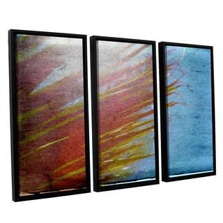 ArtWall Mark Ross's 'Secondary Sun' 3-piece Floater Framed Canvas Set