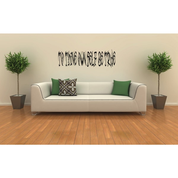 Beautiful quote What Does Not Destroy Me Makes Me Stronger Wall Art Sticker Decal