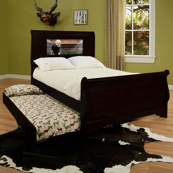 LightHeaded Edgewood Black Full Bedframe with Trundle