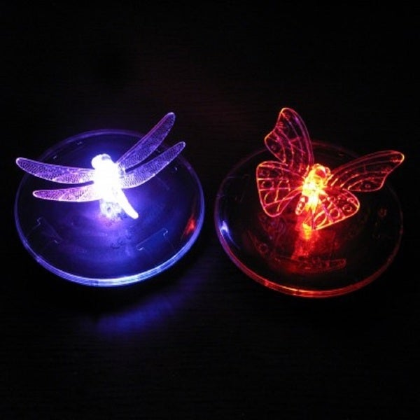 Floating Solar LED Dragonfly or Butterfly Lights