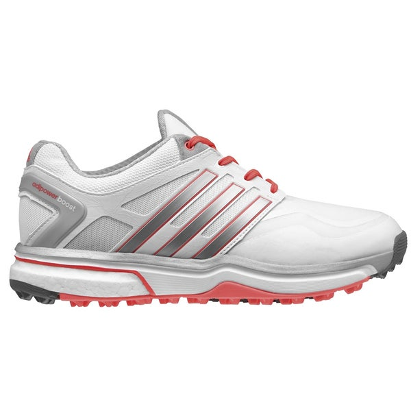 Adidas Adipower Sport Boost Golf Shoes Ladies CLOSEOUT Grey/White/Red Orange 17774750