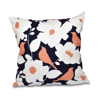 ModFloral Print 16-inch Throw Pillow