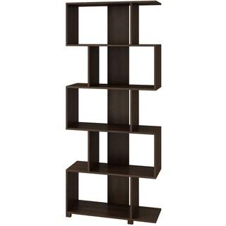Accentuations by Manhattan Comfort Charming Petrolina 5-shelf Z-Shelf
