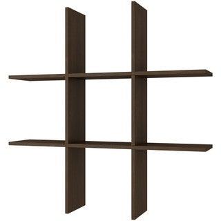 Accentuations by Manhattan Comfort Decorative Taranaki 6-shelf Tic-Tac Shelf