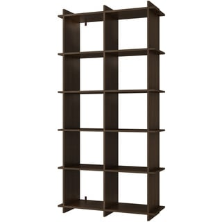 Accentuations by Manhattan Comfort Convenient Gisborne 10-shelf Bookcase 1.0