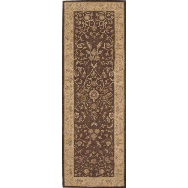 Nourison Heritage Hall Brown Rug (2'6 x 8')