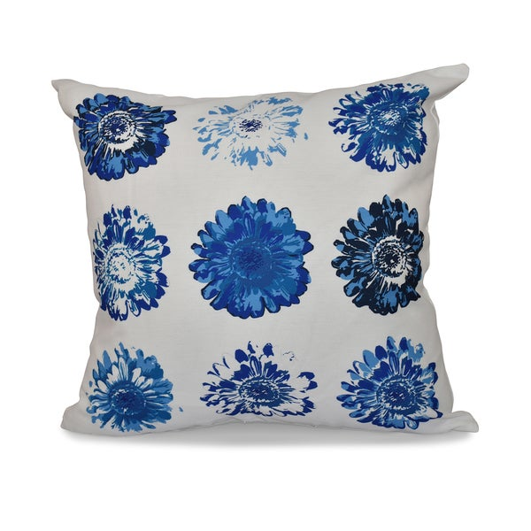 Gypsy Floral Print 18-inch Throw Pillow