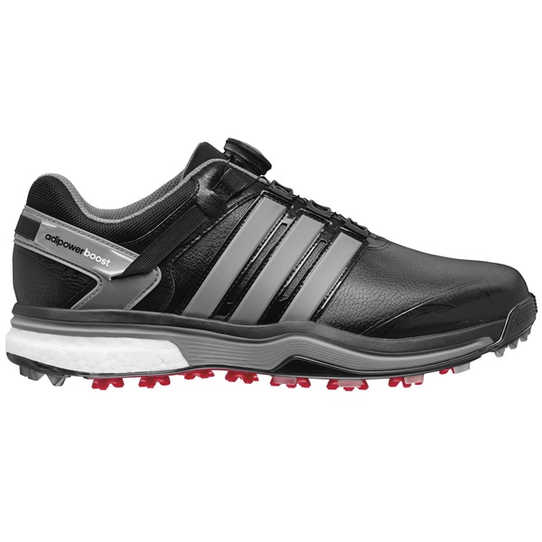 Adidas Adipower BOA Boost Golf Shoes CLOSEOUT Black/Metallic/Black