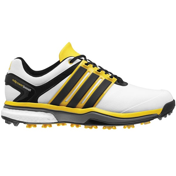 Adidas Adipower Boost Golf Shoes CLOSEOUT White/Black/Yellow