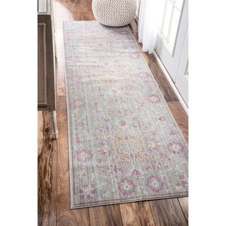 nuLOOM Traditional Vintage Persian Grey Runner Rug (2'6 x 8')
